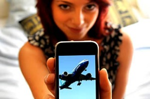 iPhone travel app plane