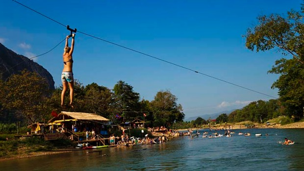 Several tourists had died or were injured on the Xong River in Vang Vieng last year while engaging in ''dangerous water ...