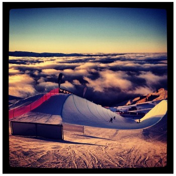 World Cup pipe above the clouds