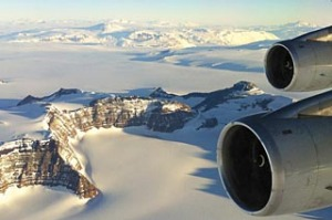 Antarctica sightseeing flight.