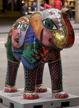 Mali in the city, Mali, Protector of all animals. Artist Deborah Halpern.