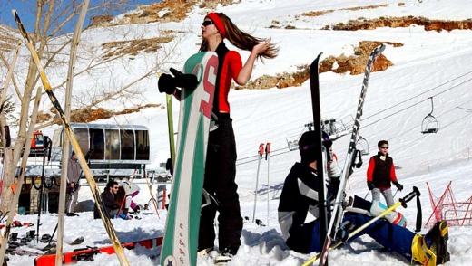 Skiing in Lebanon ... there are six ski resorts just outside Beirut.