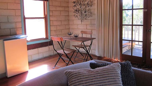 Brush with the bush ... Sirius is one of five handmade mudbrick cottages at Secret Valley Escape.