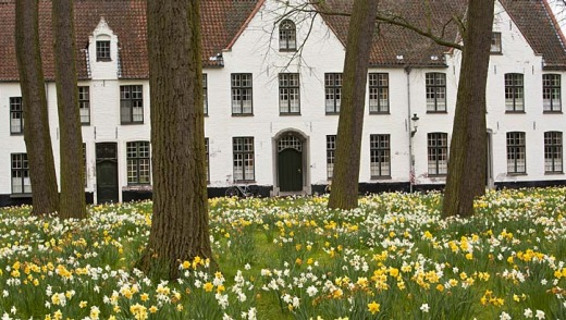 The Beguinage ... established in 1245, it is home to nuns of the Order of Saint Benedict.