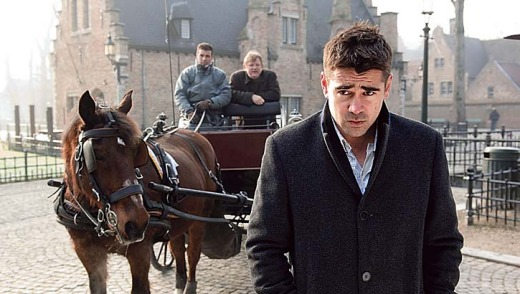 Colin Farrell in a scene from <em>In Bruges</em>.