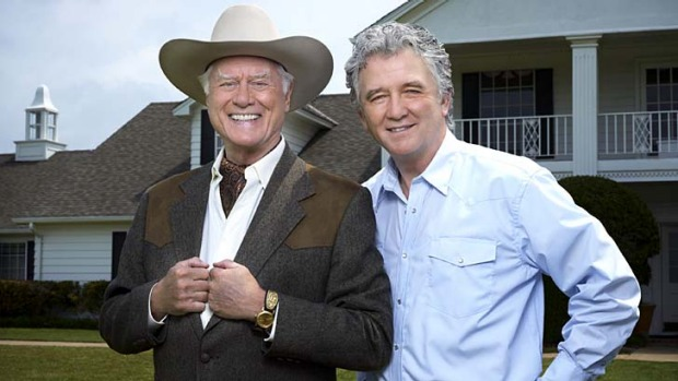 Texas to a T ... Larry Hagman and Patrick Duffy as the Ewings.