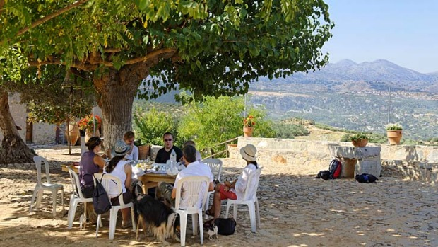 Lasting friendships are forged over Cretan meals.