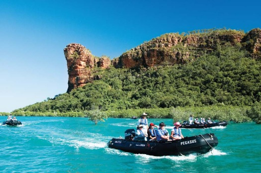 Cruising the spectacular Kimberley on board the Orion.