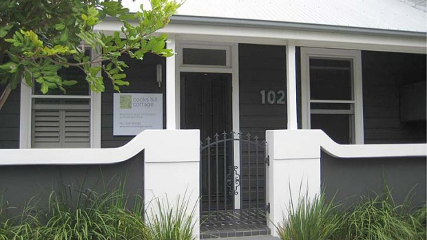 Hipster brief ... Cooks Hill Cottage has a smart exterior.
