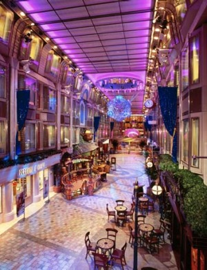 Voyager of the Seas' Royal Promenade.