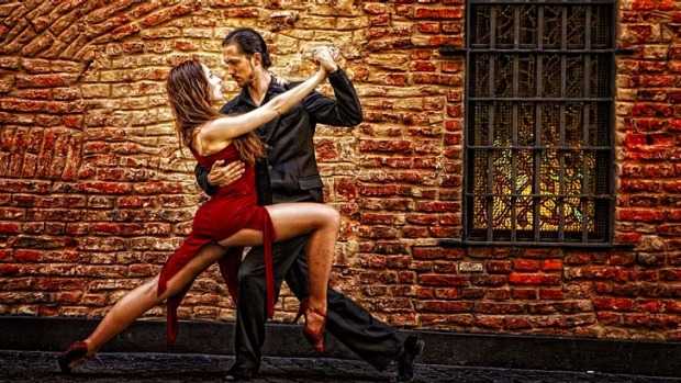 Hot stuff ... dancers perform the tango in Buenos Aires.