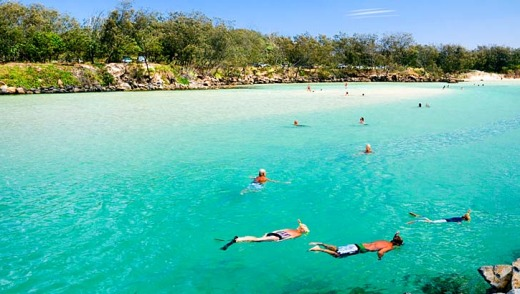 The clear waters of Cudgen Creek at Kingscliff.