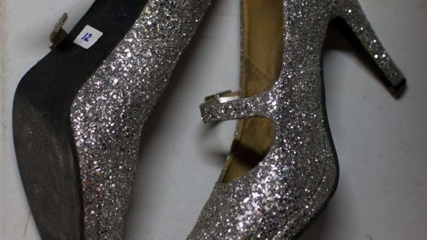 Size 12 shoes worn by a ladyboy dancer at the Chiang Mai Cabaret show.