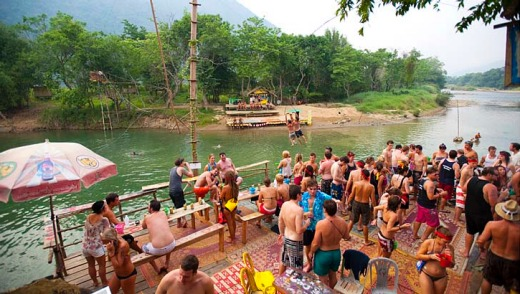 For a while there Vang Vieng's backpacker scene really must have been a Beach-style South-East Asian utopia shared by ...