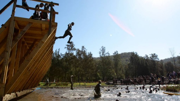 Competitors in the Tough Mudder.