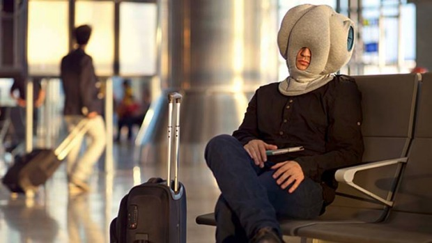 """The 'Ostrich Pillow' is a new portable device that its inventors say will """"enable power naps anytime, anywhere,"""" ..."""