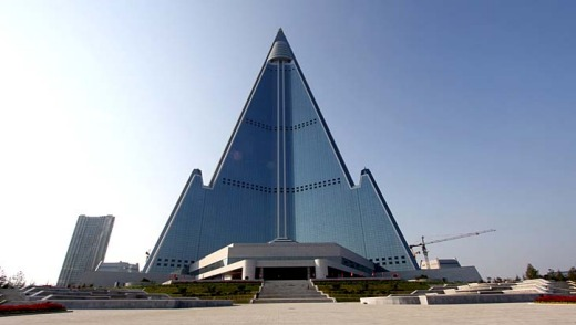 North Korea's 105-storey Ryugyong Hotel -- nicknamed the ''Hotel of Doom'' and widely derided for its ugliness -- is ...