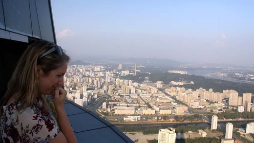 "The hotel boasts a ninety-fifth floor viewing platform offering ""an amazing panoramic view over Pyongyang"" and it will house a massive banquet hall as well as offices and apartments, she said."