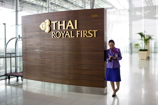 Thai Airways Royal First lounge at Suvarnabhumi Airport in Bangkok. The airline is looking to take on rivals Singapore Airlines and Emirates for high-end travellers.