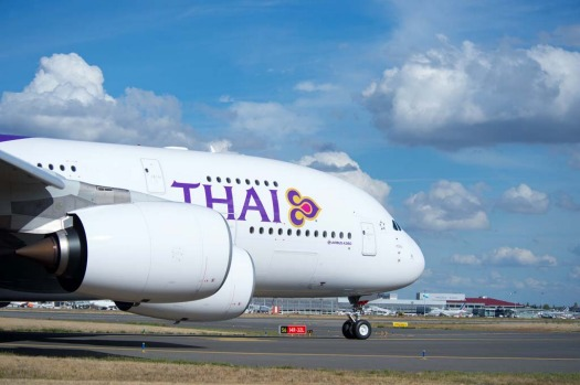 Thai Airways received its first Airbus A380 superjumbo last week, boosting efforts to compete with Singapore Airlines and Emirates for lucrative corporate travellers.