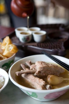 Bak kut teh (pork bone soup). The Hokkien version of this traditional breakfast favourite features a dark soup with a ...