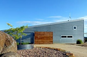 Home base ... Breakneck Gorge's corrugated exterior belies the luxury within