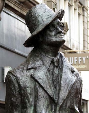 A monument to the novelist James Joyce.