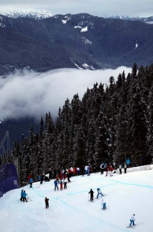 Whistler's ski slopes.
