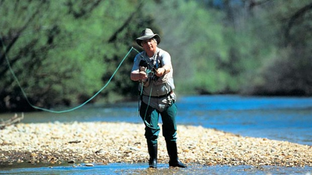 On the fly ... fishing in the high country.