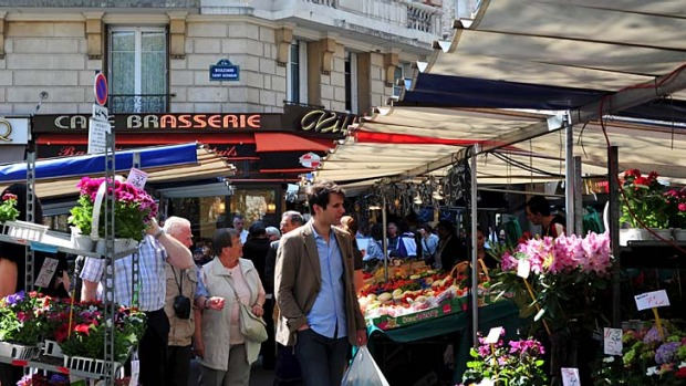 Paris's oldest tri-weekly market ... Marche Maubert.