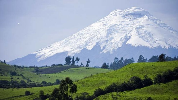 Hot spot ... Cotopaxi, the world's tallest active volcano.