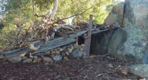 The well-constructed cubby in the Carnegie St Park in Narrabundah