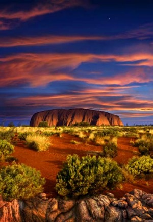 Breathtaking ... Uluru at sunset.