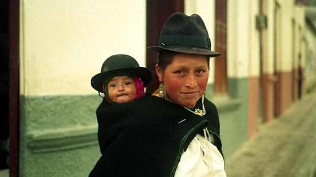 Young at heart ... a Vilcabamba woman and child.