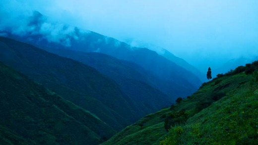 Morning in the Andean Mountains, Vilcabamba, Ecuador.