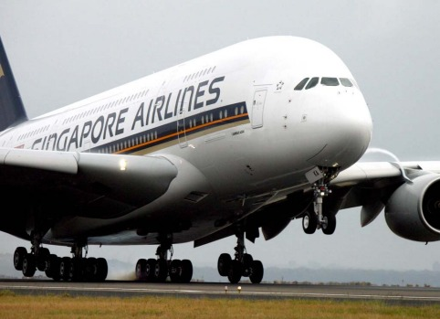 First flight ... Singapore Airlines completes the first commercial flight of the A380 in October 2008, touching down at ...