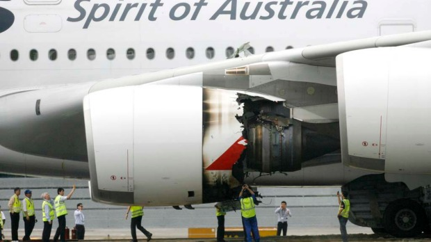 November 2010. In the most serious incident of the A380's five year history, an engine on Qantas flight QF32 from Singapore to Sydney exploded shortly after take off. The plane landed safely, but required $139 million in repairs and saw superjumbos grounded for safety checks.