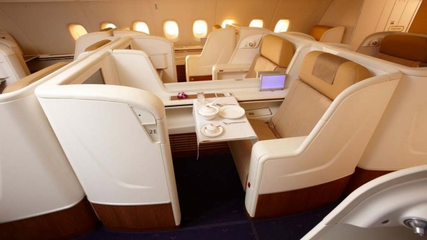 First class on the Thai Airways A380.
