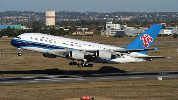 Domestic superjumbo ... China Southern received its first A380 in October last year and began flying the plane on domestic routes between Beijing, Guangzhou and Shanghai.