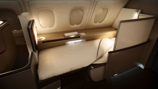 First class on board a Lufthansa A380 superjumbo. Lufthansa's first A380 entered scheduled service on Friday, 11 June ...