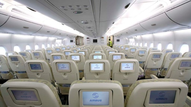 A typical A380 fit out allows for 549 passengers, but an all-economy seating arrangement could carry up to 840 passengers.