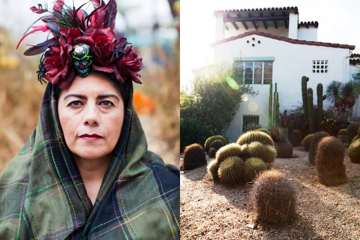 Echo Park: <i>Then a woman who looked like Frida Kahlo came out of the house but when I looked back she wasn't there</i>