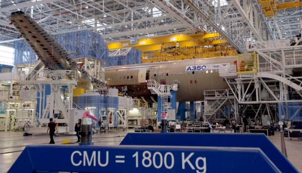 Even before last week's inauguration, the 74,000-square metre Toulouse plant has been building the first A350 that will ...