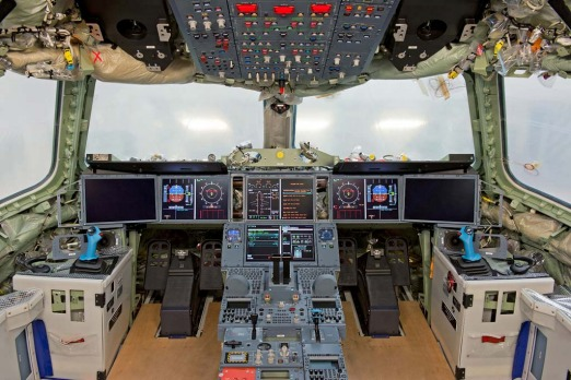 The flight deck of the A350 ... Airbus says the A350 will take to the skies in the summer of 2013 and enter service in ...