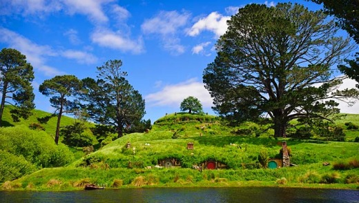 Back again ... the Shire, featured in both The Hobbit and Lord of the Rings films, can be found on farmland near ...