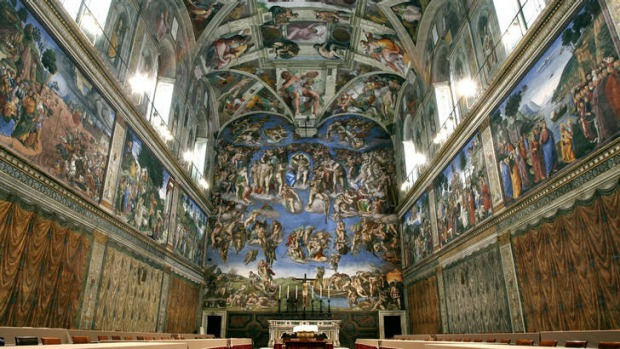 Five centuries after Michelangelo's ceiling frescoes were inaugurated at the Sistine Chapel, at least 10,000 people ...