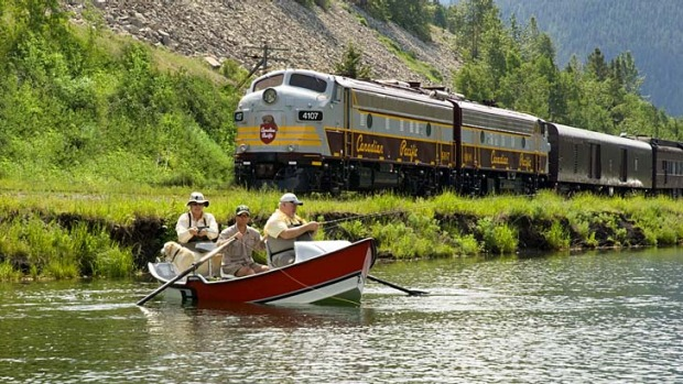 All aboard ... the Royal Canadian Pacific Express.