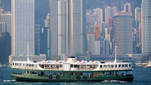 Less than a dollar each way ... the Star Ferry in Hong Kong.