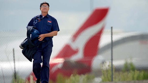 Reducing its bases ... Qantas will axe another 500 engineering jobs in Sydney and Victoria.