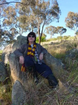 Jim Powell in what he claims is Narrabundah's Devil's Chair